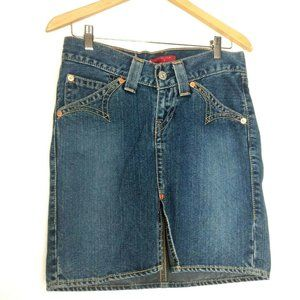 LEVI'S TYPE 1 Jeans Western Size S Mini Skirt
